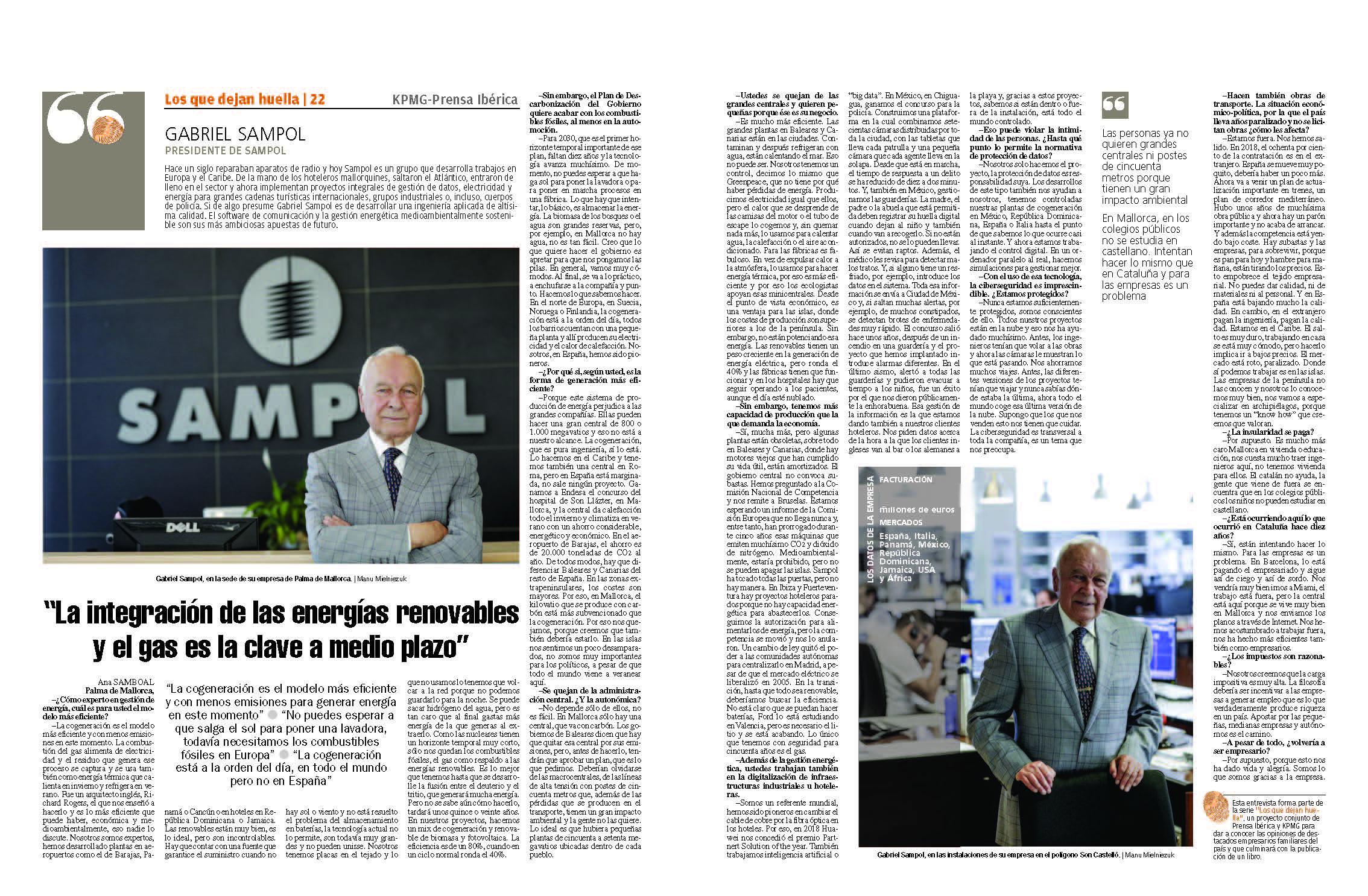 """""""La integración de las energías renovables y el gas es la clave a medio plazo"""""""